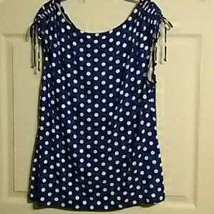 Cartise Tops - Cartise blue & white sleeveless top